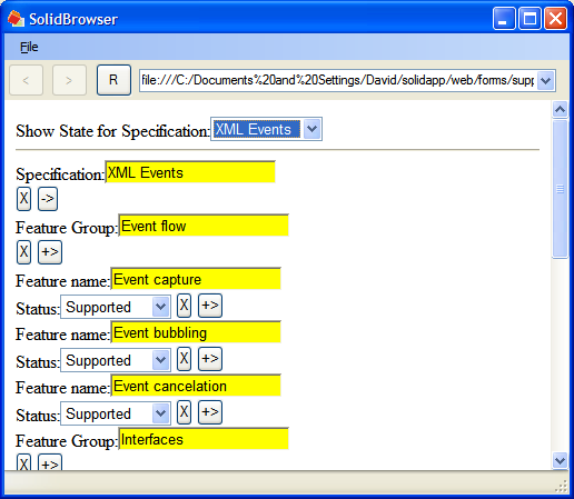 Screenshot of the .NET version